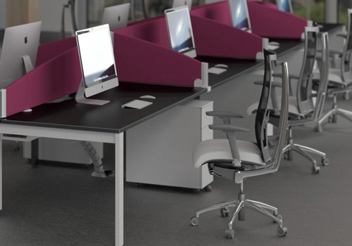 Pink Desk Screens