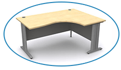 Radial Desk in Beech